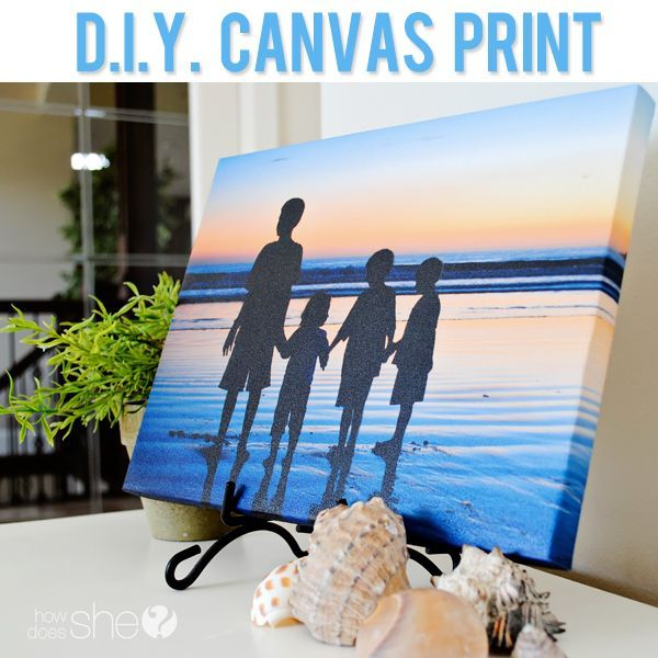 DIY wrapped canvas print