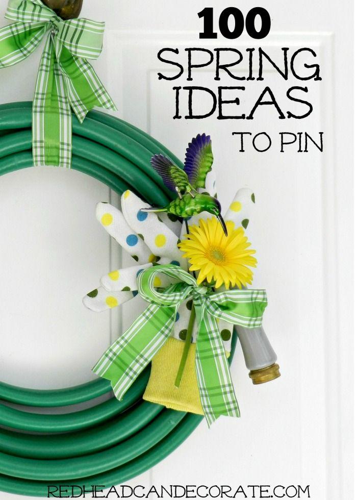 100 Blogger Spring Ideas To PIn…amazing stuff!