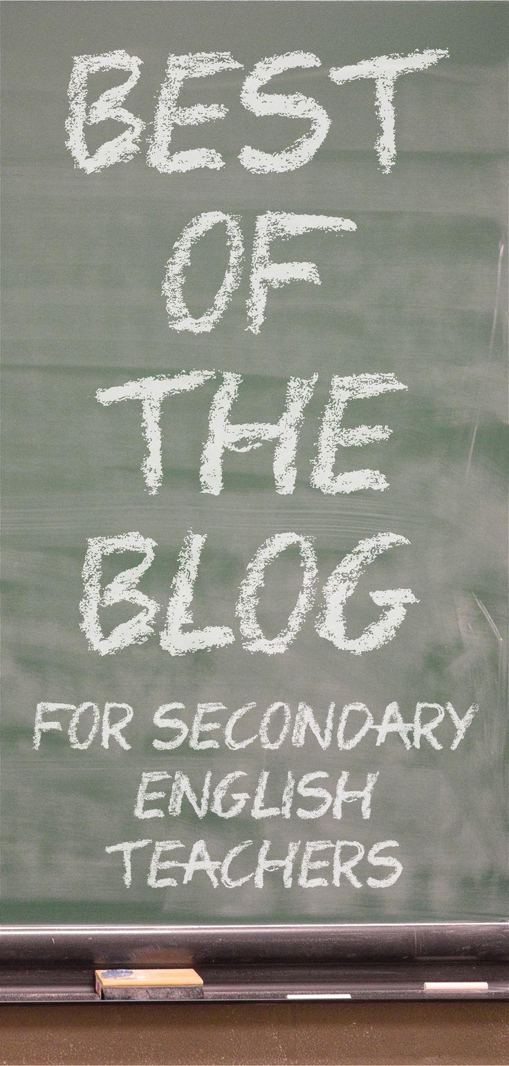 Blog posts for high school & middle school English teachers #languagearts #Englishteacher