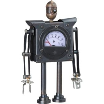 Robot: Made in India of recycled iron, each is unique $14.95 #Robot