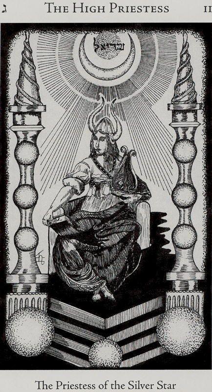 The_High_Priestess - Hermetic tarot - Godfrey Dawson