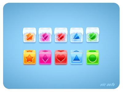 Dribbble - Qube Game Peices by Victor Soto