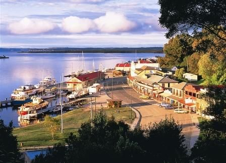 Strahan, on the west coast of Tasmania, Australia