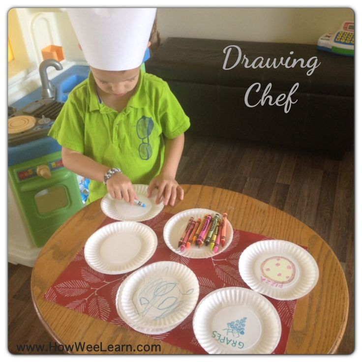 The Drawing Chef!  An imaginative and oh so simple make believe play activity - all you need is crayons!  Make Believe play is very important for wee ones development - it makes children more creative, better problem solvers, and develop empathy.  And it is so much fun!  How Wee Learn