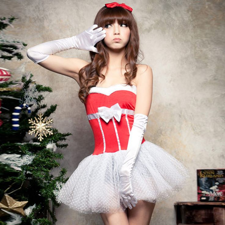 "Seek cheaper goods - Buy ""The new Christmas sexy Santa suit female Christmas Princess strapless dress stage performance clothing cosplay costume"" for only 23 USD."