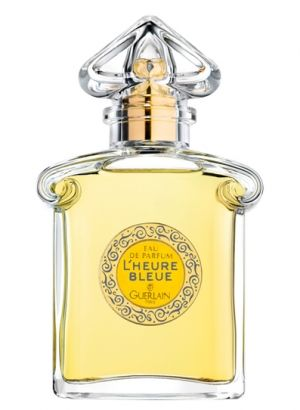 L'Heure Bleue or 'the bluish hour' was created by Jacques Guerlain in 1912. The fragrance is velvety soft and romantic, it is a fragrance of bluish dusk and anticipation of night, before the first stars appear in the sky. The top notes are opening with spicy-sweet aniseed and fresh bergamot that gently lead to the heart of rose, carnation, tuberose, violet, and neroli. The soft and powdery floral notes are resting on a base of vanilla, Tonka bean, iris and benzoin.