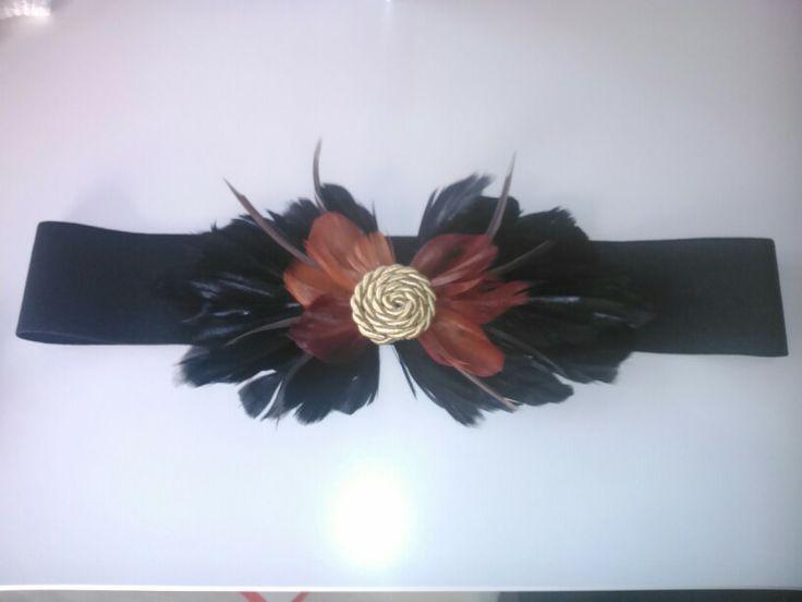 Cinturon de plumas