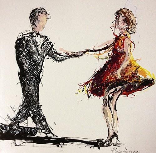 "Clare Hartigan ""Couple Dancing"" #DukeStreetGallery #dance #fridaynight"