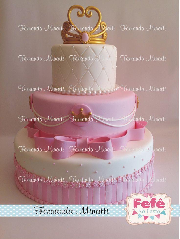 Bolo princesa Princess Cake fake  Informações e orçamentos: ferminatti@gmail.com  www.fernandaminatti.com.br