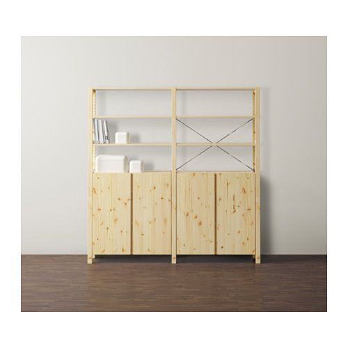 IVAR 2 sections/shelves/cabinet  - IKEA
