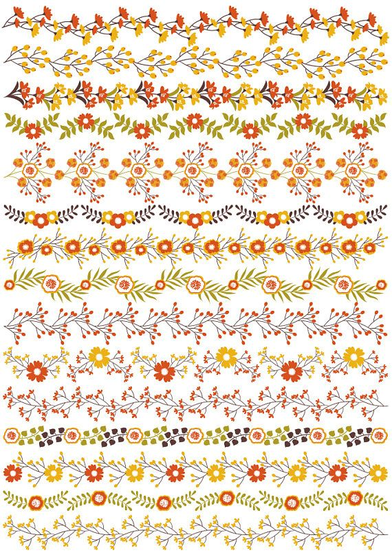 Floral Borders Clipart, Vector Floral Clipart, Flower Borders Clipart #thecreativemill