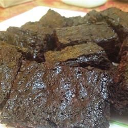 Brownies Made With Cocoa And Coffee Instead Of Water