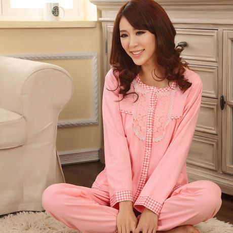 Kigurumi-Full-Modal-Knitted-Solid-New-2014-100-Cotton-Pajamas-Women-font-b-Night-b-font.jpg (460×460)
