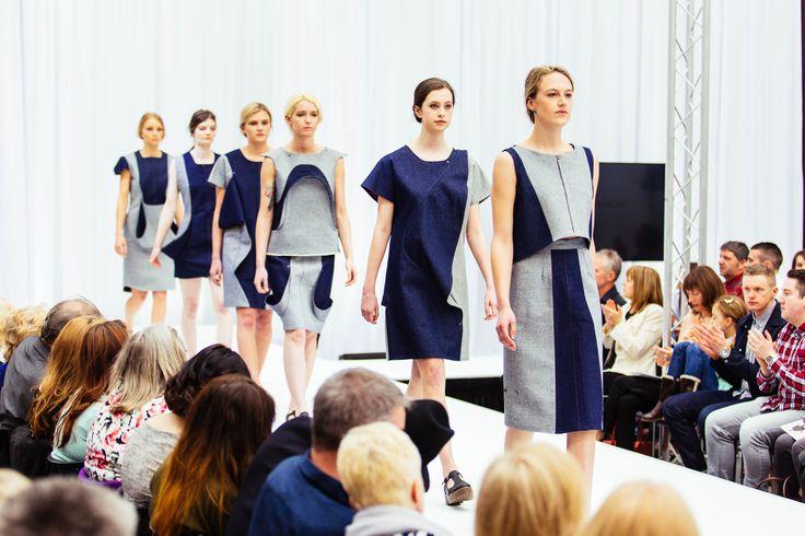 Dan Nesterov Fashion, denim dresses. Gray's School of Art, RGU, Robert Gordon University, Fashandtexatg