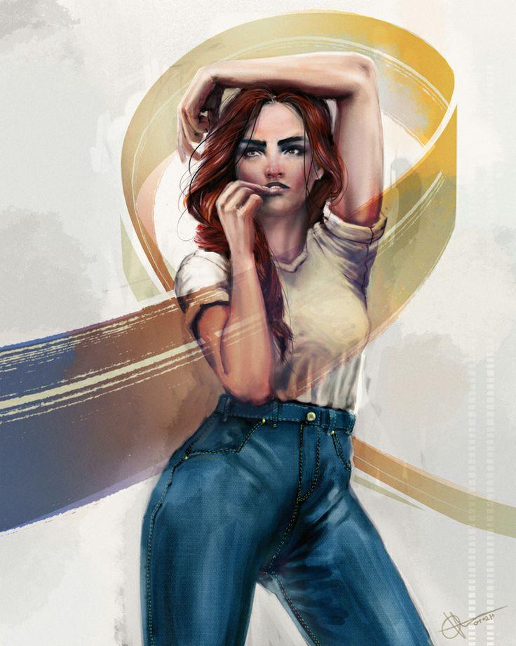 http://ollikilpi.blogspot.fi/ girl spiral pose photoshop, Olli Kilpi https://www.facebook.com/olli.kilpi.illustration
