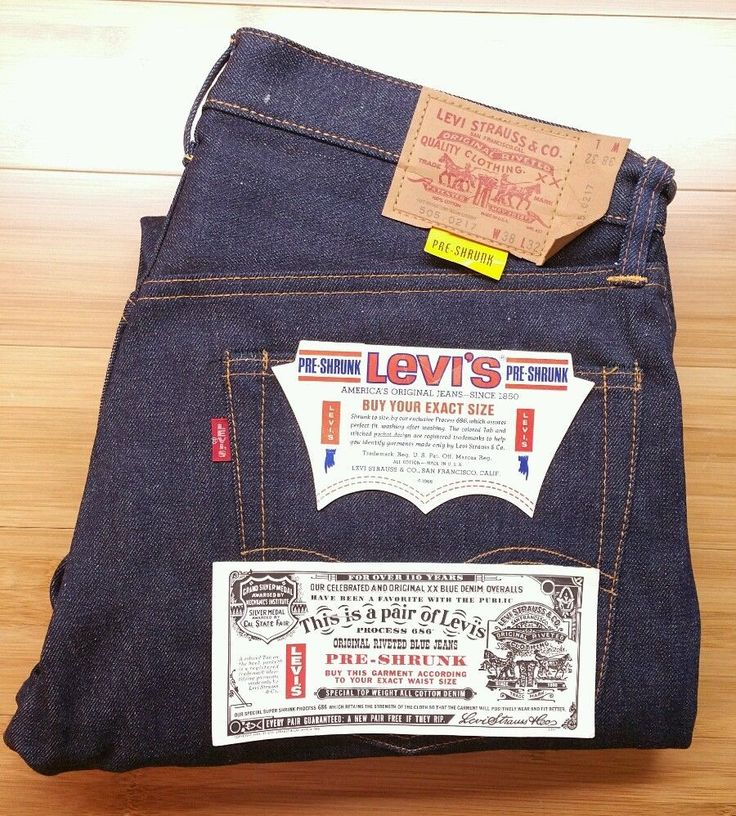 Vintage Levi's 505 Big E Red Tab / Authentic 1967-1971 / True Vintage Jeans NWT in Clothing, Shoes & Accessories, Vintage, Men's Vintage Clothing | eBay