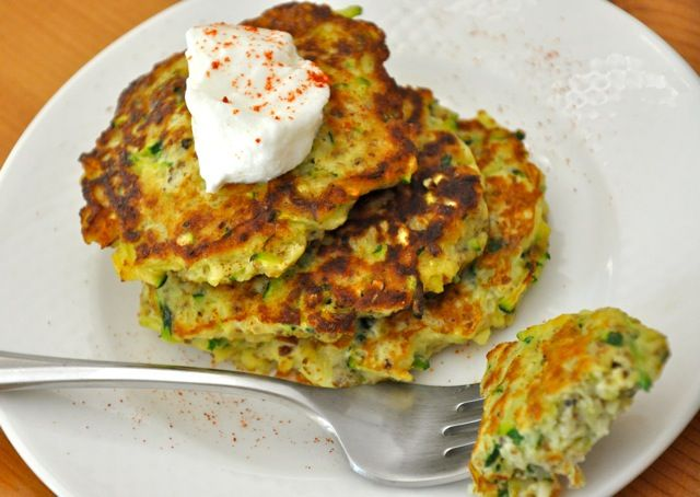 Healthy Zucchini Cakes Recipe. I am OBSESSED with Zucchini!!!