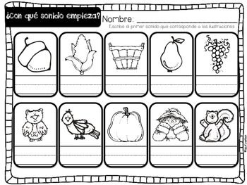 Un día de otoño {Fall Math and Literacy Centers in Spanish}