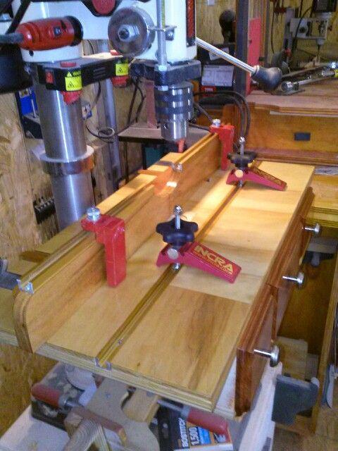 Drill press table.