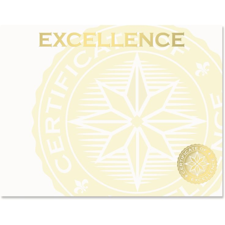 Gold Excellence Seal Specialty Certificates   PaperDirect
