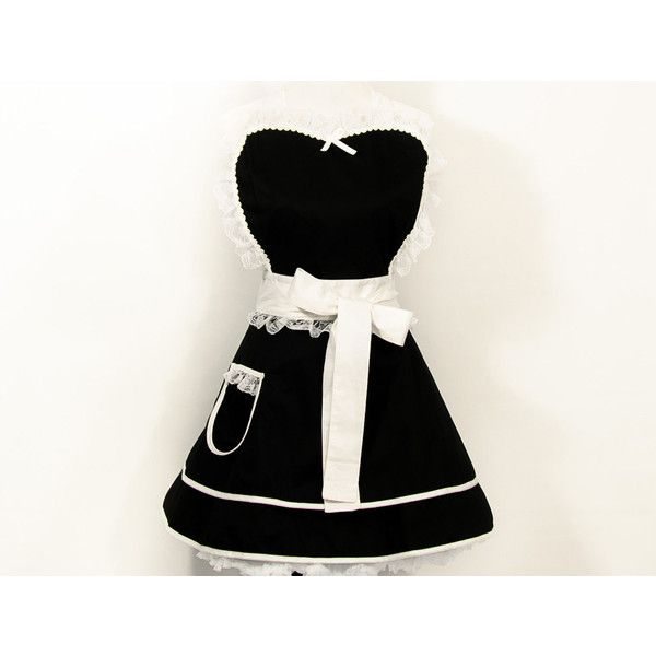 French Maid Apron French Maid Costume Cosplay Geek Nerd Christmas Gift... (81 AUD) ❤ liked on Polyvore