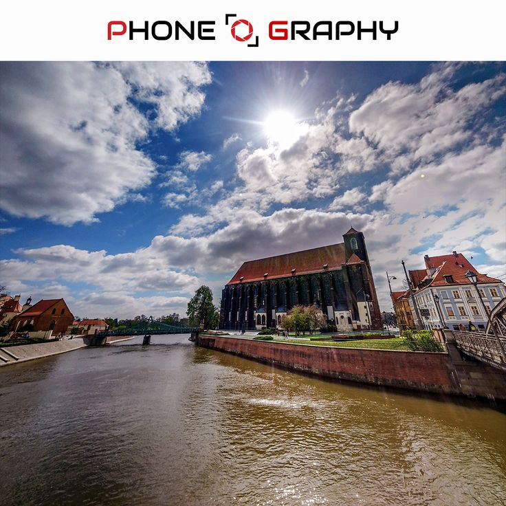 Cathedral building blue sky and Odra River in Wroclaw Find me on Fotolia / Adobe Stock: 109053085 http://adobe.ly/pog-14  #phoneography #fotolia #instant #adobestock #igers #igerswroclaw #igerspoland #wroclaw #wroclove #miastospotkan #cathedral #katedra #bluesky #sky #sun #clouds #cloudyday #bridge #river #odra #pond #trees #hdr #nofilter #photoshop #retouch #14