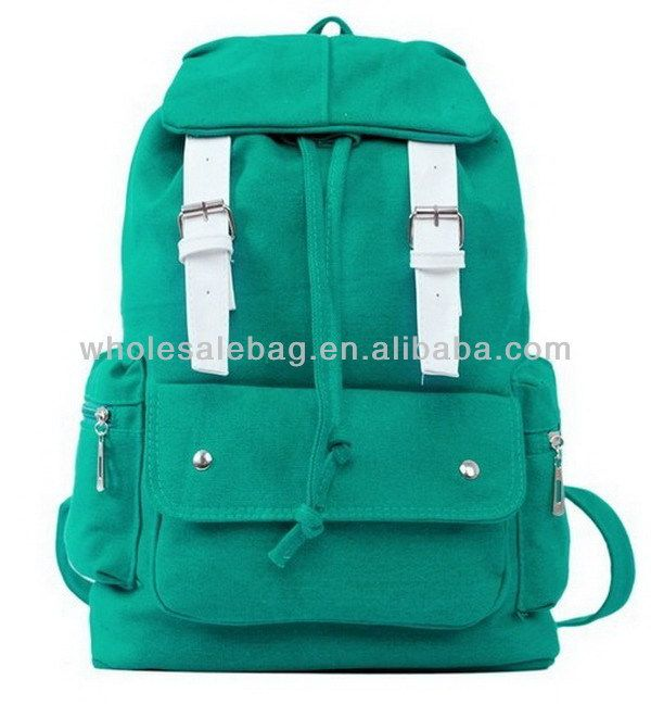 Wholesale Canvas Rucksack Knapsack Cheap School Bag Purity Backpack Bag For High College School University Teenage Juniors $1.5~$8