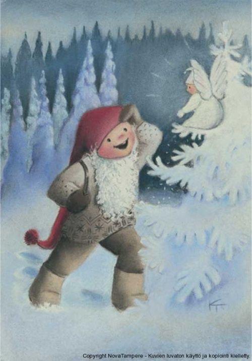 Волшебный народец - Санта Клаус, гномы, ниссе, феи 2 (100 работ)