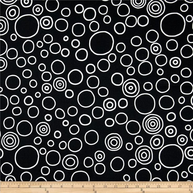 Premier Prints Circles Black/White from @fabricdotcom  Screen printed on cotton duck; this versatile medium weight fabric is perfect for window treatments (draperies, valances, curtains and swags), accent pillows, bed skirts, duvet covers, slipcovers, upholstery and other home decor accents. Colors include black and white.   *Use cold water and mild detergent (Woolite). Drying is NOT recommended - Air Dry Only - Do not Dry Clean.