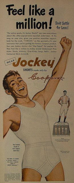 1950s Jockey Shorts Briefs Men's Underwear Vintage Advertisement 3 Illustration by Christian Montone, via Flickr