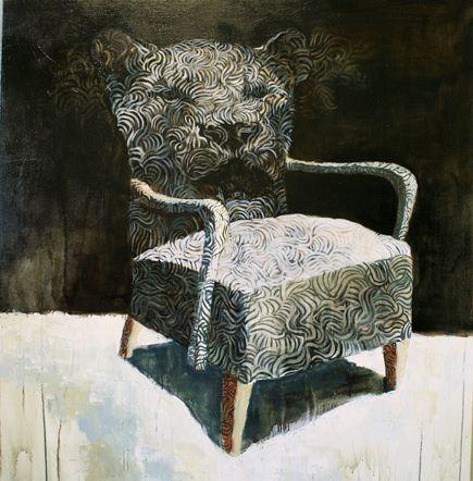 Visual artist Samuli Heimonen Yawn. Acryl and oil on canvas. 120cm x 130cm. 2008