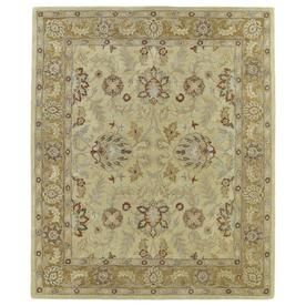 Kaleen Solomon Gold Rectangular Indoor Handcrafted Oriental Area Rug (Common: 9 X 12; Actual: 9-Ft W X 12-Ft L) 4053-05-