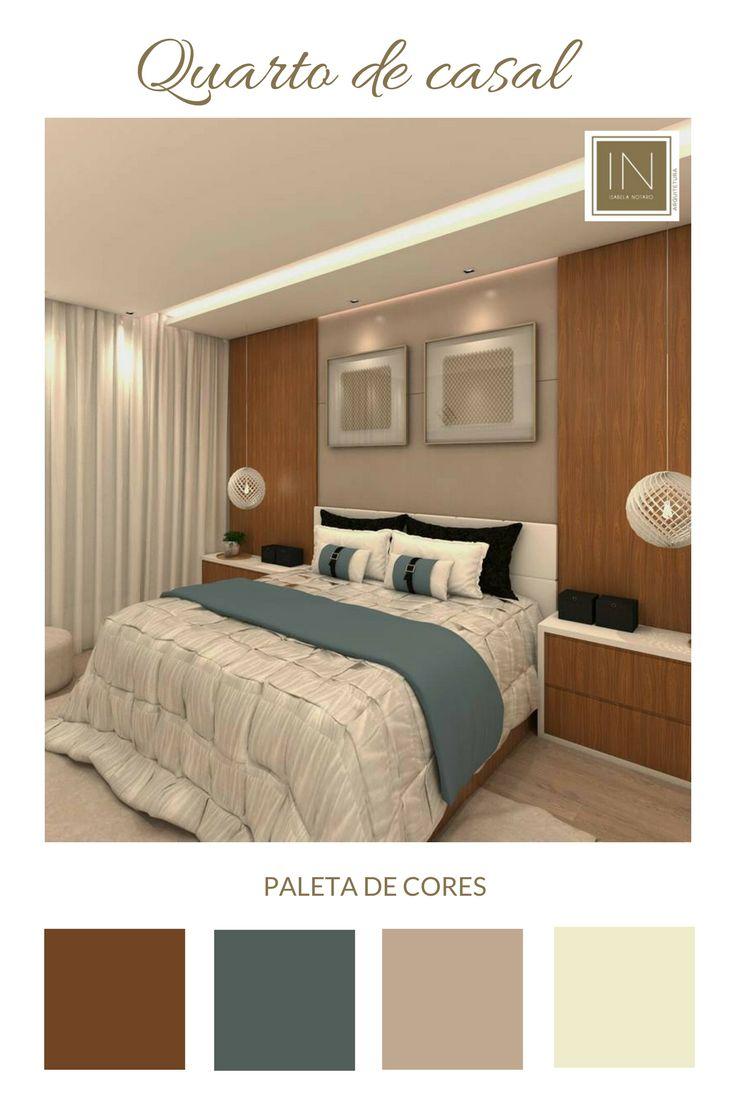 Projeto do nosso escritório - Isabela Notaro Arquitetura e Interiores - esse quarto de casal investe na madeira para conferir um ar aconchegando ao cômodo!