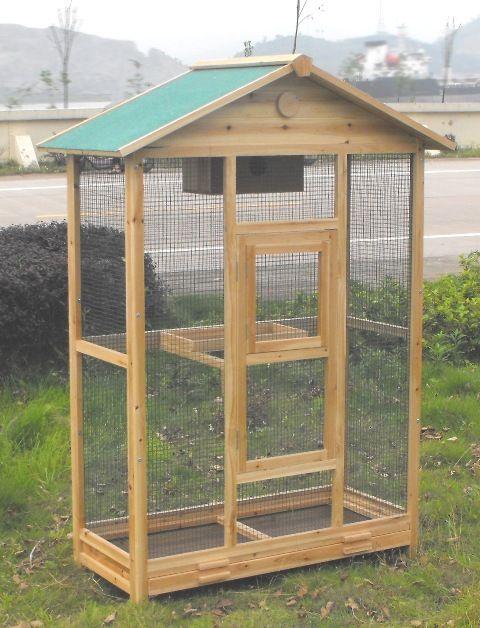 THE WOODEN BIRD AVIARY Urban & Hobby Farms Bird aviary