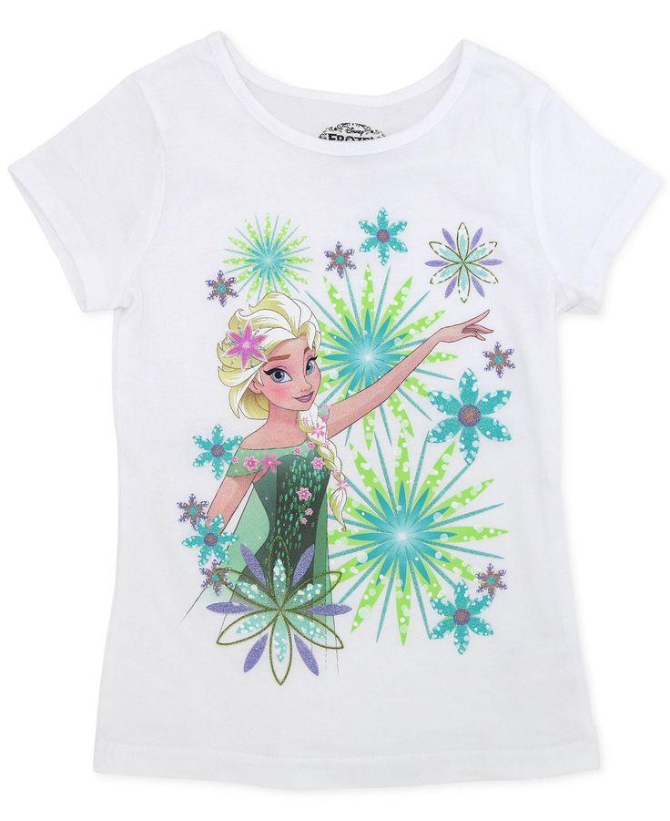 Disney Little Girls' or Toddler Girls' Elsa Snowflake Tee - Kids - Macy's