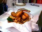 Traditional British Fish & Chips from Mac's Fish and Chip Shop on Diners, Drive-Ins & Dives