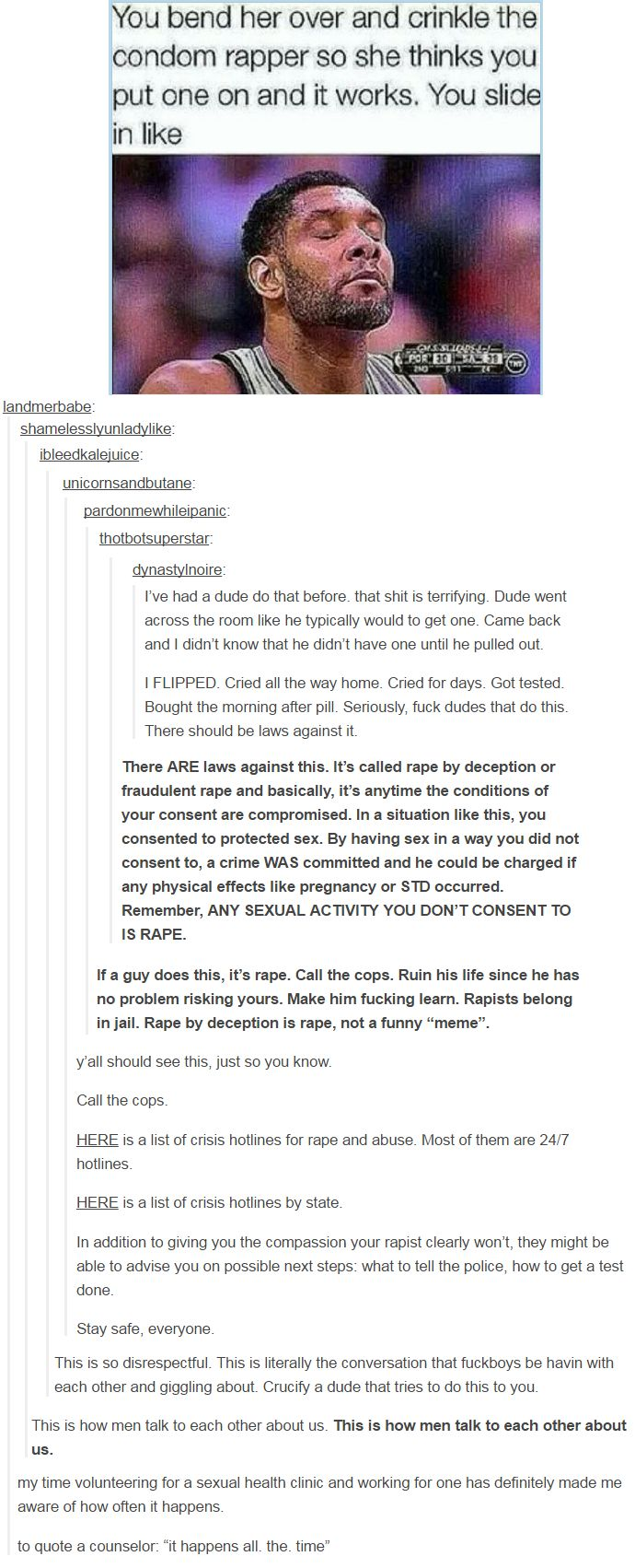 any man who thinks this is okay is a rapist. period. http://acetrackie.tumblr.com/post/140415254446/landmerbabe-quietstorm-thundathighs#notes