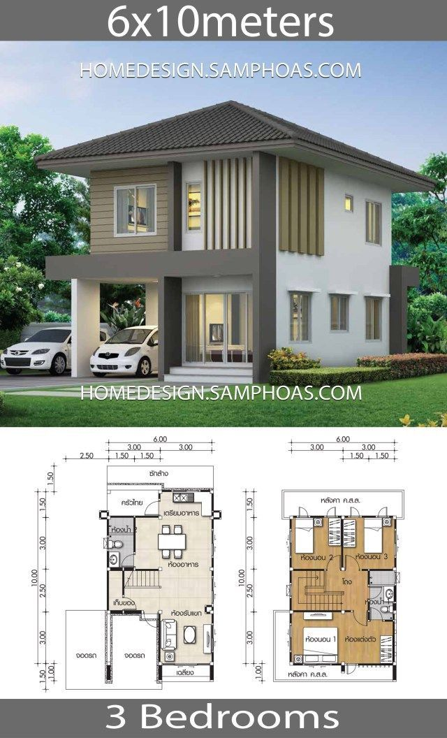 2 Storey Small House Design 2 Storey Small House Design 2020 Small Home Design Plan 5 4x10m W Small House Design Narrow House Designs House Construction Plan