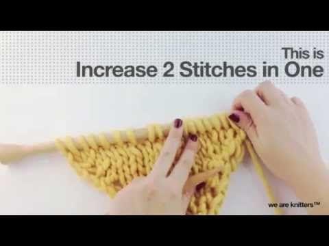 Cómo tejer aumentos (parte II) - WE ARE KNITTERS