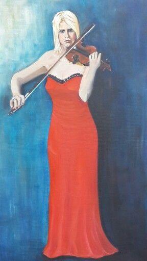 Yağliboya portre calismam _ my work oil on canvas