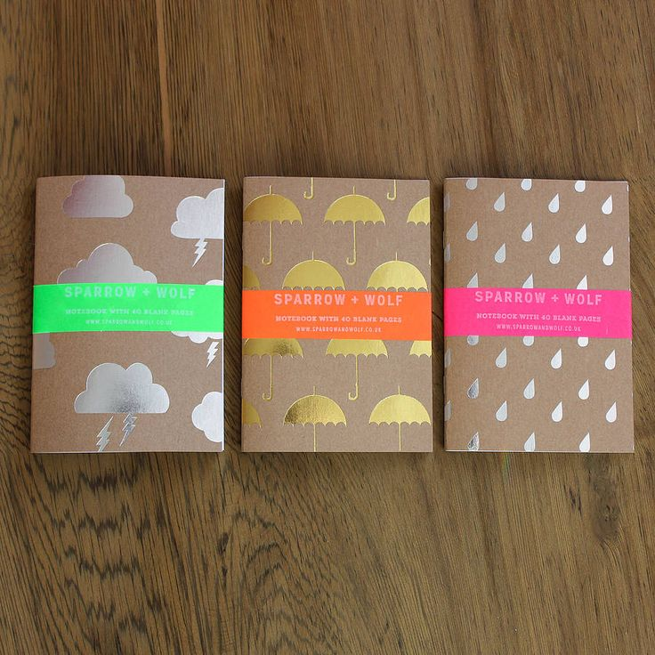 set of three a6 notebooks/travel journals by sparrow + wolf