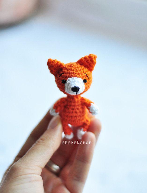 Bag charms – Amigurumi fox, miniature fox, stuffed animal. – a unique product by EMERENshop on DaWanda