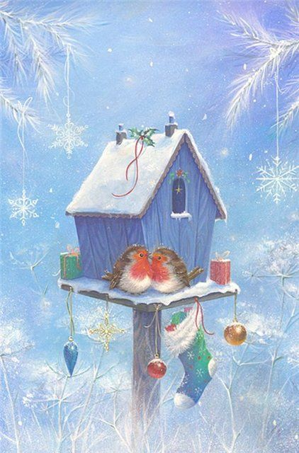 Waiting for Santa... feathered friends - Художник Sarah Summers