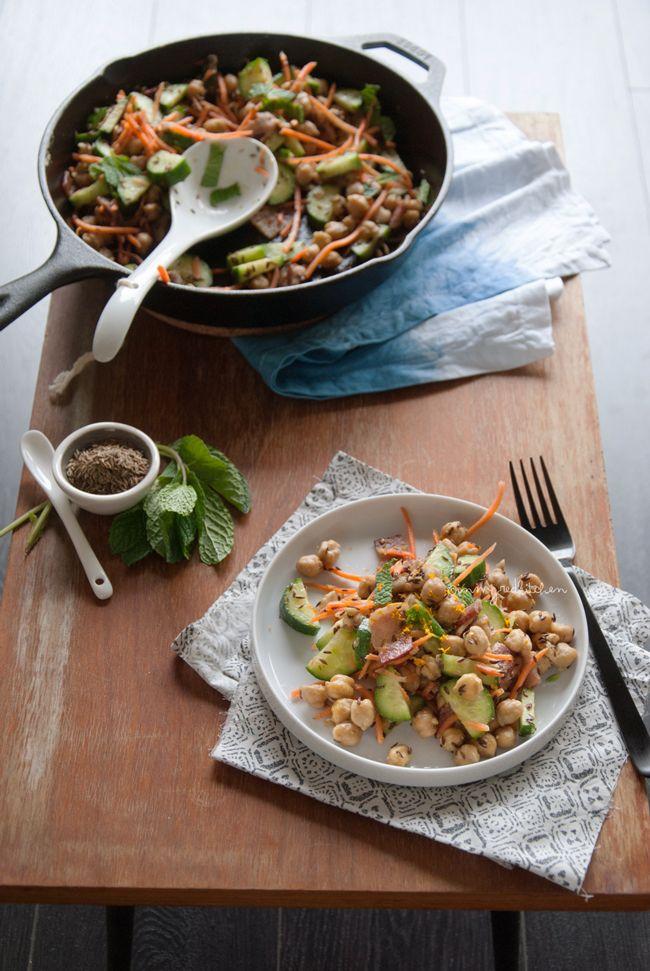 Kikkererwten zijn toch echt een van mijn favoriete ingredienten in salades en deze kikkererwtensalade van Ellen is weer een toppertje!