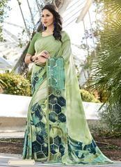 Green Color Crepe Casual Party Sarees : Reeshita Collection YF-63658
