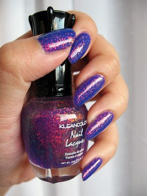L.A. Girl Hustle and Kleancolor Chunky Purple Holo