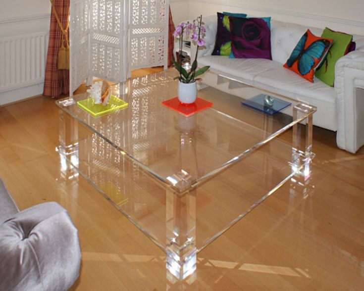 Large Acrylic Clear Coffee Table