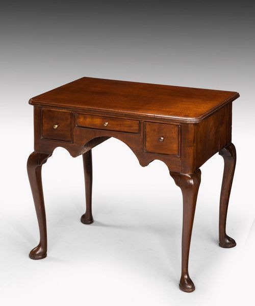 Mid 18th Century Mahogany Lowboy on Well Shaped Cabriole Supports