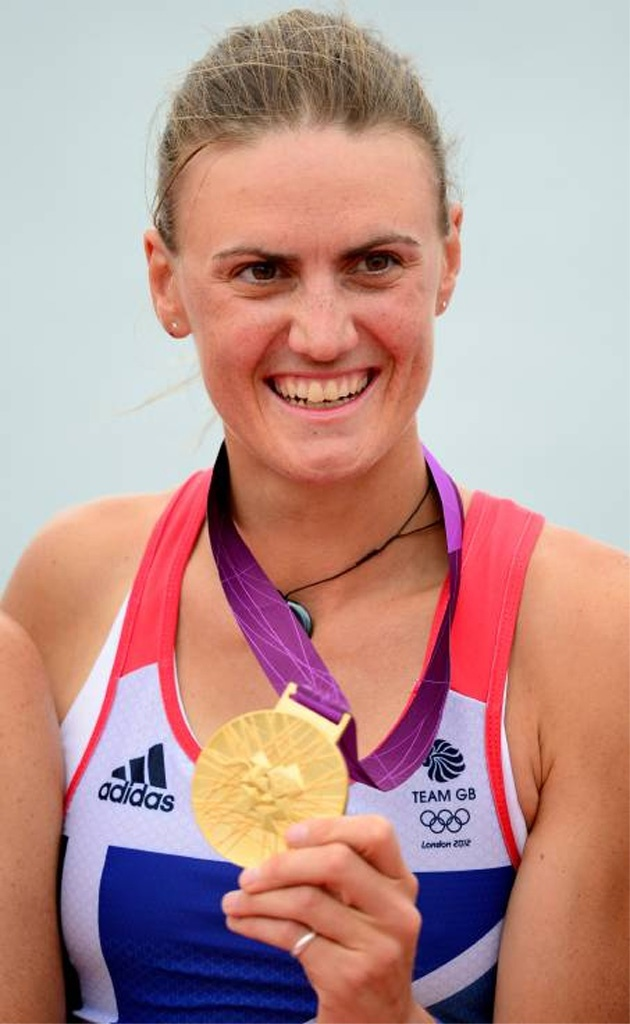 Captain Heather Stanning, an officer in the Royal Artillery, who has just won Britain's first gold medal of the 2012 Olympic Games alongside Helen Glover (who is equally worthy of praise for her fantastic achievements).    In a few months time Heather is due to be sent to Afghanistan with the Army.