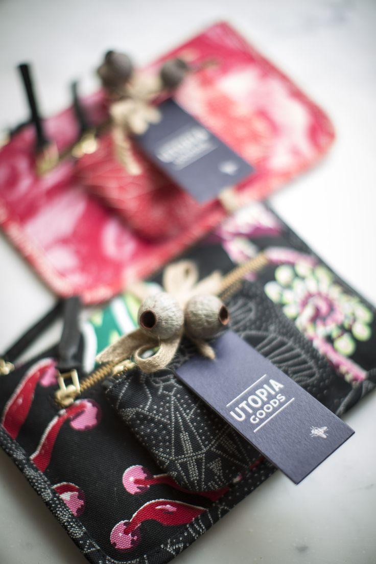Utopia Goods mini pouch and coin purse.